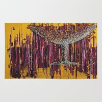 wine Area & Throw Rugs featuring :: Afternoon Wine :: by :: GaleStorm Artworks ::