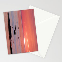 Kayaker and Bird at Last Light Stationery Cards