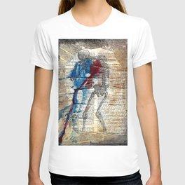 Vesalius mourning skeleton T-shirt