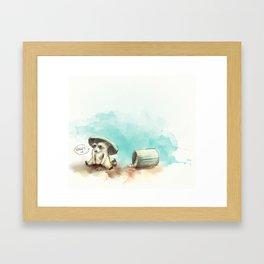 Trash Panda Framed Art Print