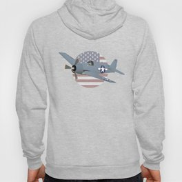 WW2 F6F Hellcat Airplane Hoody
