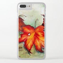 Autumn Leaves (Platanus) Clear iPhone Case