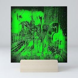 NYC Green digitally altered Photograph Mini Art Print