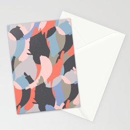 Modern abstract print Stationery Cards