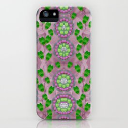 ivy and  holm-oak with fantasy meditative orchid flowers iPhone Case
