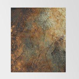 Rust Texture 69 Throw Blanket