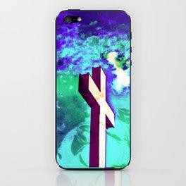 Holy Cross Purple & Green iPhone Skin