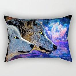 NEBULA WOLF OF THE NIGHT Rectangular Pillow