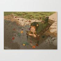 bouletcorp Canvas Prints featuring La rivière aux tortues by Bouletcorp
