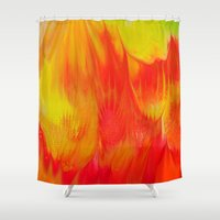 passion Shower Curtains featuring passion by LynsArtStudio