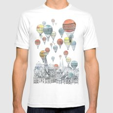 Voyages over Edinburgh Mens Fitted Tee White MEDIUM