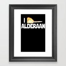I Blew Up Alderaan Framed Art Print