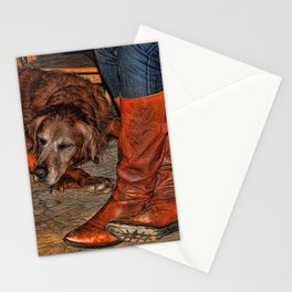 Boots and Buddy Painted Stationery Cards