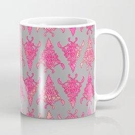 Arabesque Doodle Pattern on light grey Coffee Mug
