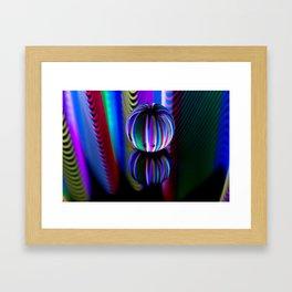 Floating crystal ball Framed Art Print