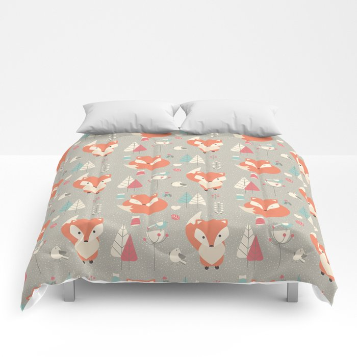 Baby fox pattern 01 Comforters