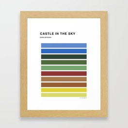 The colors of - Castle in the sky Framed Art Print