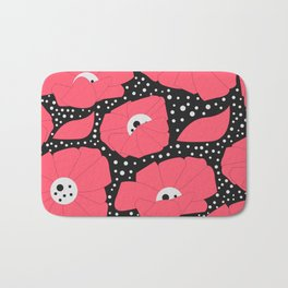 Poppies and dots Bath Mat