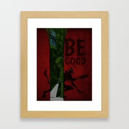 Left of Krampus Framed Art Print