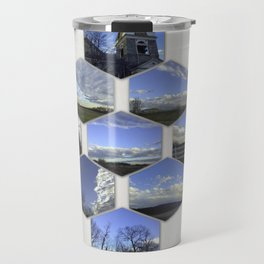 A Collage Of Winter In Frederick Maryland Travel Mug