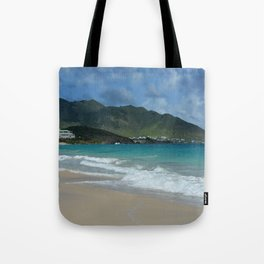 Clouds, Mountains and Ocean Tote Bag