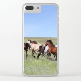 Running Horses Photography Print Clear iPhone Case