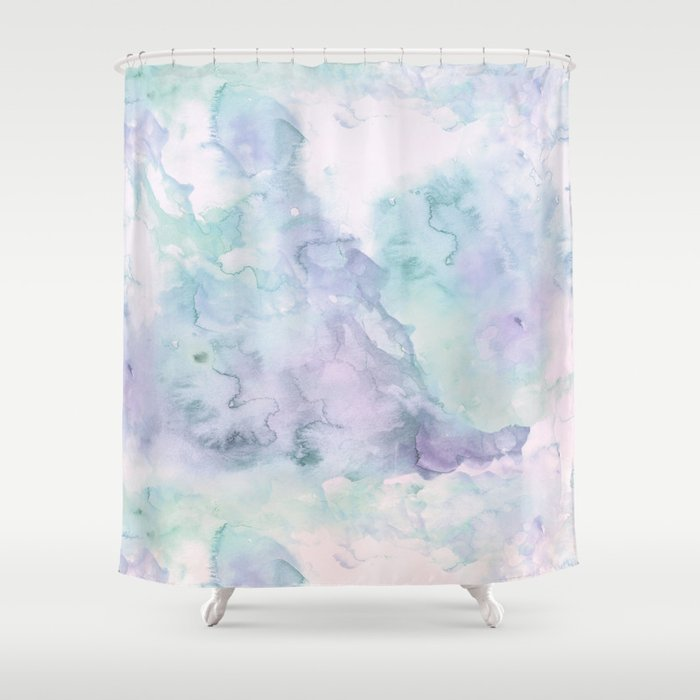 Pastel modern purple lavender hand painted watercolor wash Shower ...
