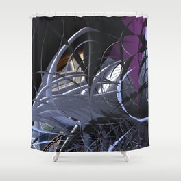 Messy entangled abstract matter Shower Curtain