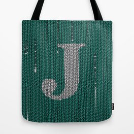 Winter clothes. Letter J III Tote Bag