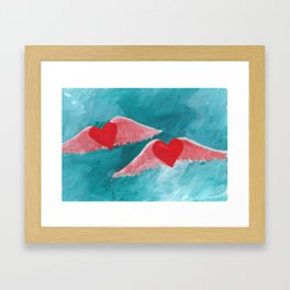 Fly away with me Framed Art Print