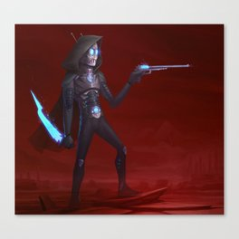 Martian Wasteland Gunslinger Canvas Print