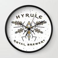 hyrule Wall Clocks featuring Hyrule Royal Brewery by Tugrul Peker