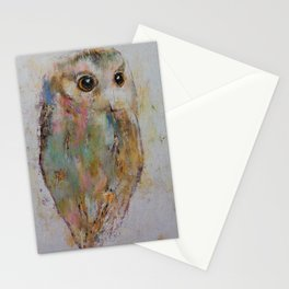 Owl Painting Stationery Cards