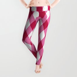 Pink rhombuses on white. Leggings