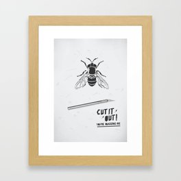 Cut It Out - Annoyance Framed Art Print