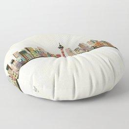 seattle city skyline Floor Pillow