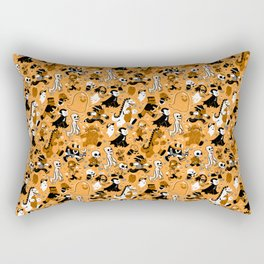 Monster March (Orange) Rectangular Pillow