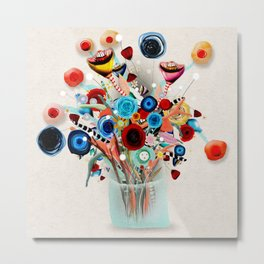 Rupydetequila Vase with flowers - Still Life Floral 2018 Metal Print