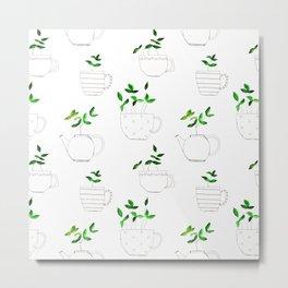 Tea plants in tea cups Metal Print