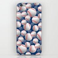 baseball iPhone & iPod Skins featuring Baseball by joanfriends