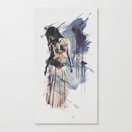 Bellydancer Abstract Canvas Print