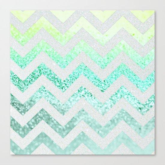 FUNKY MELON SEAFOAM Canvas Print