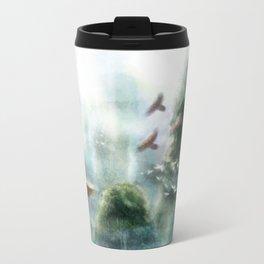 Flight through the Mountains Travel Mug