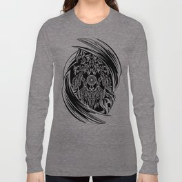 WOLF MONOCHROME RINGS Long Sleeve T-shirt