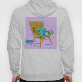 animals in chairs #12 Cats Hoody