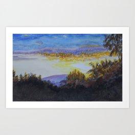 Sunrise over Red Oak Farm Art Print