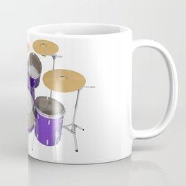 Purple Drum Kit Coffee Mug