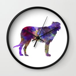 Irish Wolfhound in watercolor Wall Clock