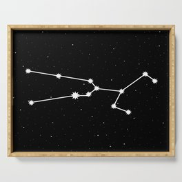 Taurus Star Sign Night Sky Serving Tray