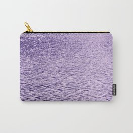 Ultra Violet Glittering Wavy Pattern | Trendy Color of year 2018 Carry-All Pouch